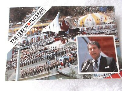 KNOXVILLE,TENNESSEE-1982 WORLDS FAIR-REAGAN OPENING-MULTIVIEW postcard