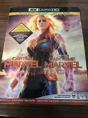 Captain Marvel 4K + Blu Ray + Digital New And Sealed