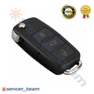 For VW Bora Passat Golf Polo Jetta 3 Buttons Flip Remote Key FOB Case Shell