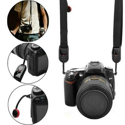 Quick Release DSLR Camera Cuff Belt &Leash Shoulder Strap Sling-Buckl W3P4