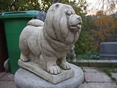 Large Standing Stone Chow Chow Dog Dogs  Sculpture Statue