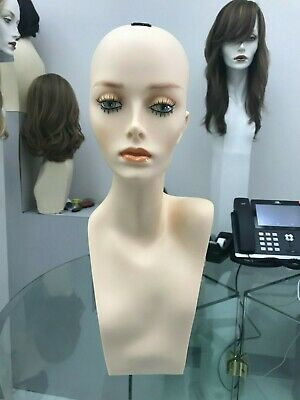 Female Wig Head Mannequin Hat Store Display Shelf Models Jewelry Jacquelyn Wigs