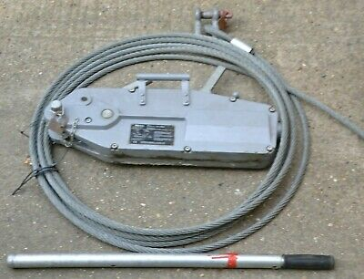 Yaletrac Y32 Tirfor 3200kg Winch Cable Wire Rope Turfor Grip Hoist Puller