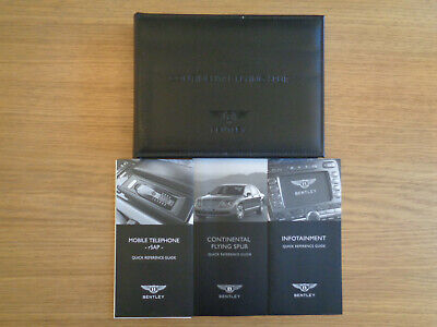 Bentley Continental Flying Spur Owners Handbook/Manual