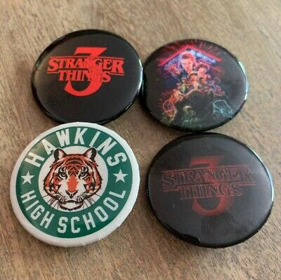 NEW! Limited Edition! STRANGER THINGS 3 Pins, Hawkins High, Starcourt, ST3 Logos