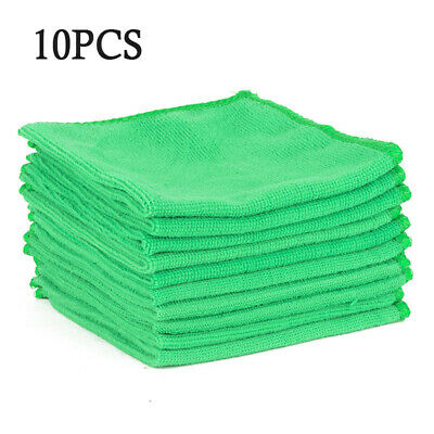 10pc Microfiber Auto Car Detailing Cleaning Soft Cloth Towel Duster Wash 30x30cm