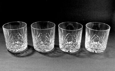 """Lot #8: Waterford Cut Crystal: Set Of 4 Old Fashioned Glasses """"Lismore"""" - Nice!"""