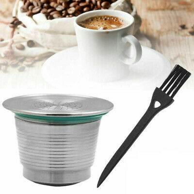 Refillable Reusable Coffee Filter  Filling Capsule Pod Stainless Steel Nespresso