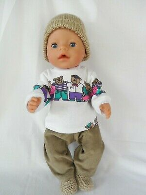 Handmade dolls clothes (Four piece Winter set) fit 40-43cm 17inch Baby Born doll