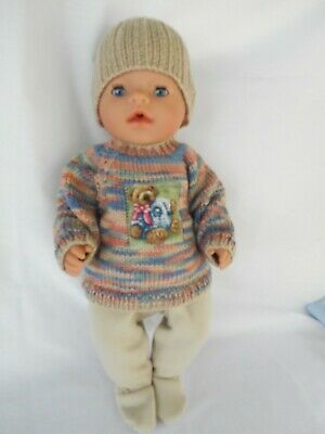 Handmade dolls clothes (Three piece Winter set) fit 40-43cm 17in. Baby Born doll