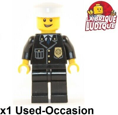 Lego Figurine Minifig police policier motard Motorcycle Officer cty484 NEUF