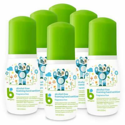 Babyganics Alcohol-Free Foaming Hand Sanitizer, Fragrance Free, 1.69 Oz, 6 Pack
