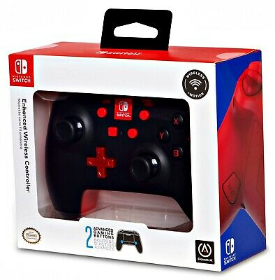 Enhanced Wireless Controller for Nintendo Switch - Black w Red