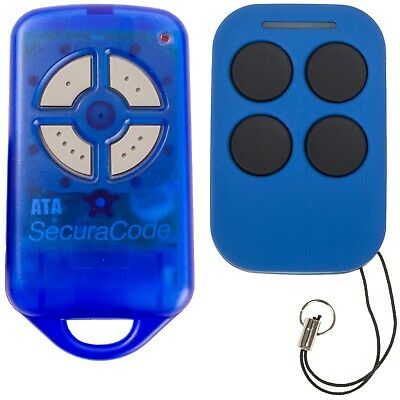 Brand New Garage Door Remote Control ATA PTX4 Replacement Blue - Auto Openers
