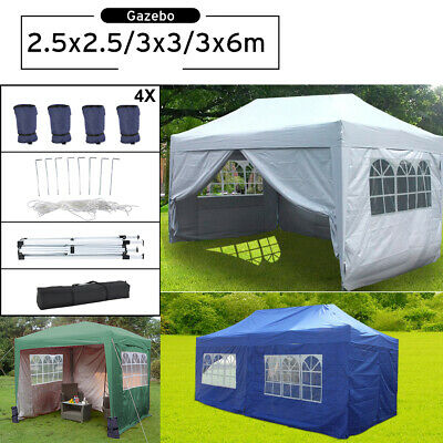 2.5x2.5m 3x3m 3x6m Garden Pop Up Gazebo Marquee Party Tent Wedding Canopy