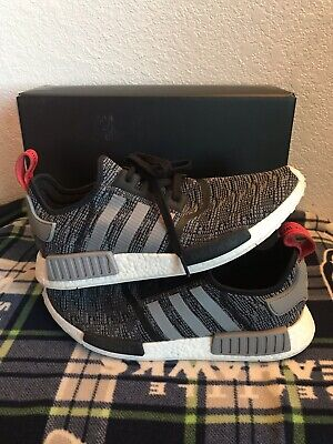 6c2258ba57b11 ADIDAS NMD R1 Shoes Core Black Grey Glitch Camo Bb2884 Us Mens Sz ...