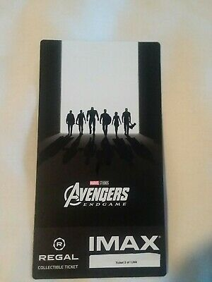 Marvel AVENGERS ENDGAME #2 out of 1000  Week 2 Collectible Regal IMAX Ticket