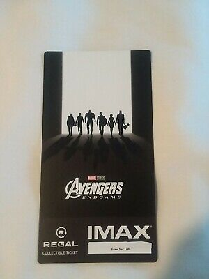 Marvel AVENGERS ENDGAME #3 out of 1000 Week 2 Collectible Regal IMAX Ticket
