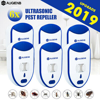 6X AUGIENB Electric Pest Repeller Anti Insect Ultrasonic Plug In Mouse