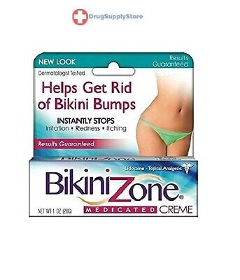 Bikini Zone Medicated Creme for Bikini Area 1 oz Instantly Stops Itching
