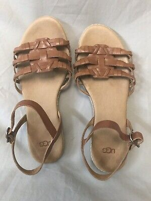 5f23233a9cf UGG AUSTRALIA ZINA Sandals Strappy 1012344 Women's Size 12 Back Zip ...