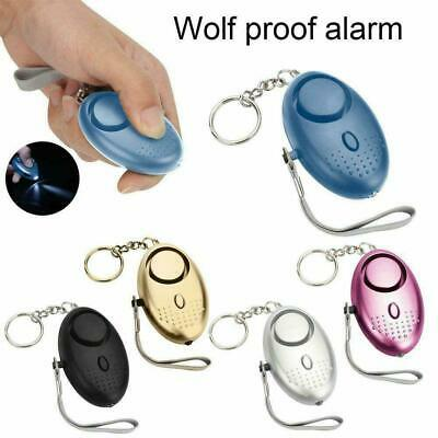 Personal Safety Siren Song Alarms 130dB Safe Sound Alarm With Keychain LED K5P9