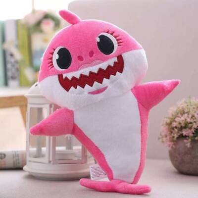 Doll Soft Gift Baby Shark Light Singing Song Toy Plush Kids Children 3Color 30cm