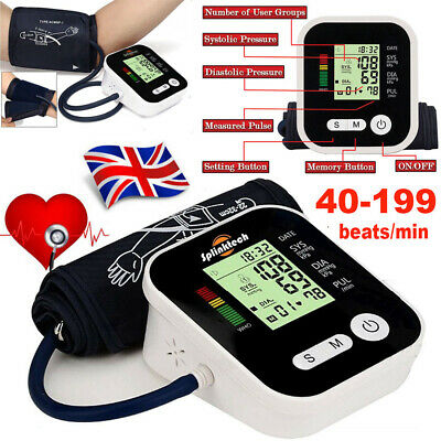 Digital Automatic Blood Pressure Arm Monitor Upper BP Machine With Large Cuff UK