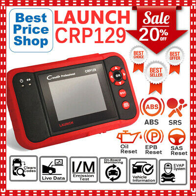Launch CRP129 Car Fault Code Reader ABS SRS Airbag OBD2 Auto Diagnostic Scanner