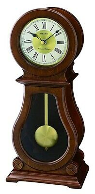 Seiko Wooden Mantel Clock with Westminster/Whittington Chimes     QXQ035B-NEW