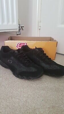 NEW LADIES SKECHERS Totally Active Black Leather Trainers