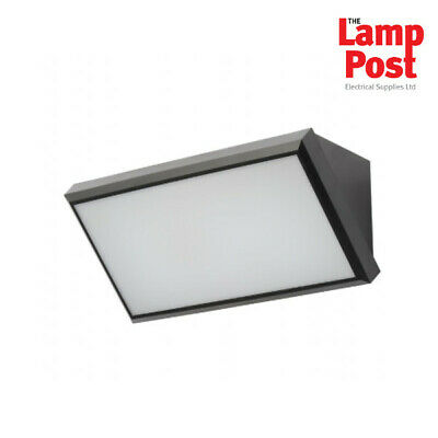 Forum CZ-31741-BLK Derby Outdoor LED Wedge IP65 Wall Light