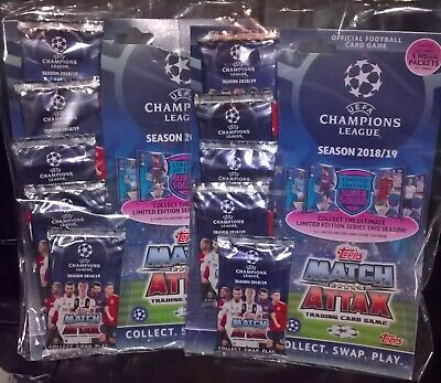2 X Topps Uefa Champions League 2018/19 Cards Mega Multi Pack Match Attax