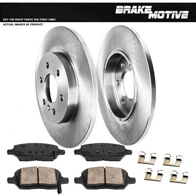 Rear Cross-Drilled Slotted Brake Rotors Disc and Ceramic Pads Montana,Relay