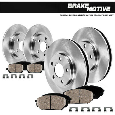 Front Rear Discs Brake Rotors and Ceramic Pads For Honda Accord Coupe 2003-2007