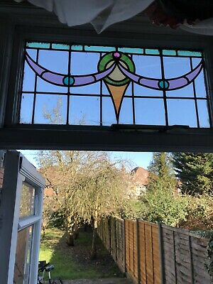 3xReclaimed Victorian Lead Stained Glass Window Panels