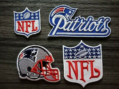 4 pcs Patch NEW ENGLAND PATRIOTS Football Team Embroidered Iron or Sew on Shirt