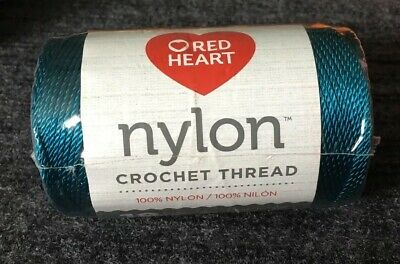 Red Heart Crochet Nylon Thread Size 18 0053 Teal 150 Yds 1 Roll New