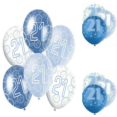 AGE 21ST BIRTHDAY Balloons,Pack of 6, Size 12