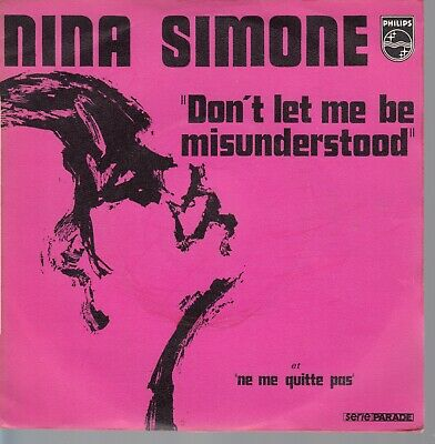45Trs Vinyl 7''/ French Sp Nina Simone / Cover Brel Animals / Ne Me Quitte Pas