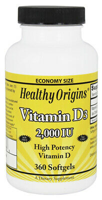 Healthy Origins - Vitamina D3 2000 Iu - 360 Cápsulas de Gel