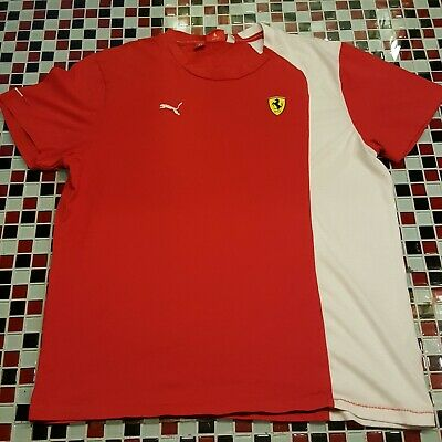 dcb00f9ff4c2f8 Puma ~ Scuderia Ferrari ~ Official LARGE T-shirt F1 Racing Team ~ Short  Sleeve