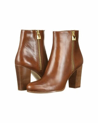 8ff3357cb848 Michael Michael Kors Womens Margaret bootie Leather, Dark Caramel, Size 9.0  Xeaj