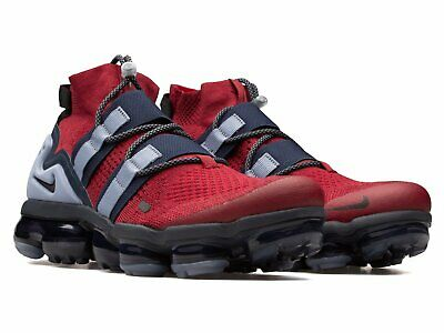 "NIKE AIR VAPORMAX UTILITY ""TEAM RED OBSIDIAN""; AH6834-600 Sz 9.5"
