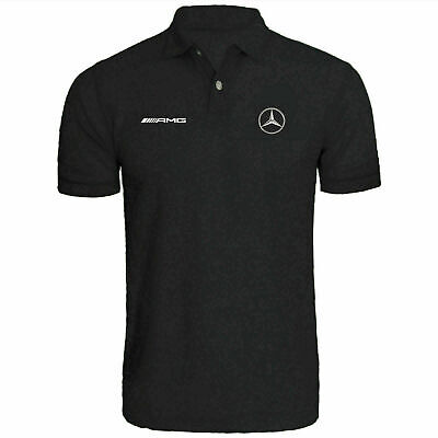 Mercedes Benz Polo Shirt AMG Mercedes F1 racing car polo Black white grey S-4XL
