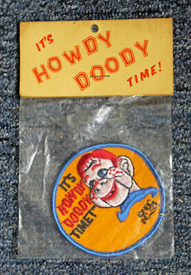 """Vintage 1971 Nbc """"It's Howdy Doody Time!"""" Cloth Patch Sealed In Original Package"""