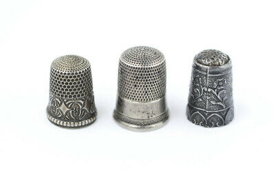 Set of 3 Sterling Silver Thimbles
