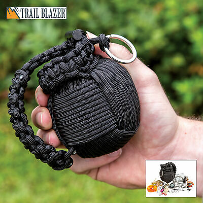 48pc Paracord Grenade Survival Kit Camping Military Emergency Tool Gear Outdoor