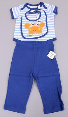 Macy's Boy's First Impressions 3 Piece Pants Set JH7 Blue Size 6-9 Months NWT
