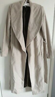 8df9cbe36 NEW EX RIVER Island Women's Longline Coat Duster Jacket Mink Beige ...